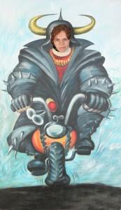 фон адский байкер