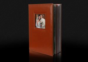 свадебная фотокнига в кожаной обложке