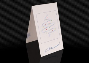 новогодняя открытка от фото мига, внешняя сторона