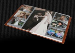 Свадебный альбом со светло-коричневой кожаной обложкой, 2й разворот