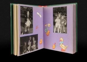 детский фотоальбом, разворот