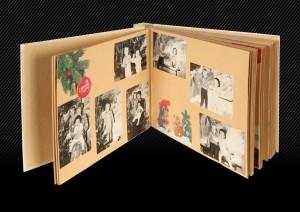 классический фотоальбом, разворот