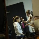 подготовка к съемке, нанесение макияжа 3