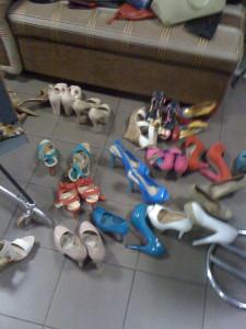 обувь в студии