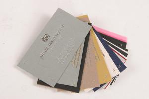 визитки с тиснением