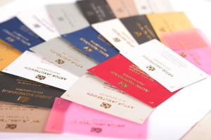 визитки золотом и серебром